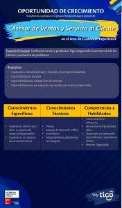 Asesor de ventas y servicio al cliente TIGO Guatemala